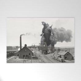 Godzilla King of Monsters Ironwood Michigan 1898 Welcome Mat