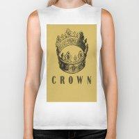 crown Biker Tanks featuring Crown by NYLONPISTOL