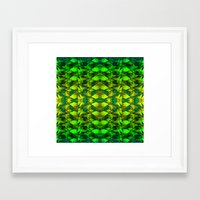 green pattern Framed Art Prints featuring Green pattern. by Assiyam