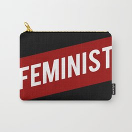 FEMINIST RED WHITE BANNER Carry-All Pouch