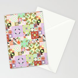 Geometric Quilt Pattern Stationery Cards