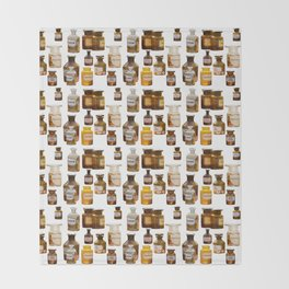Vintage Chemistry Bottles Throw Blanket