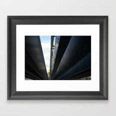 bridge the gap. Framed Art Print