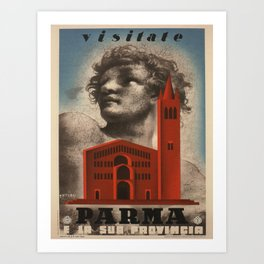 Vintage poster - Parma Art Print