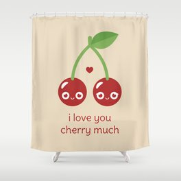 I Love You Cherry Much Shower Curtain