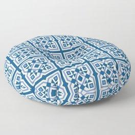Patisserie ceramic tile pattern Floor Pillow