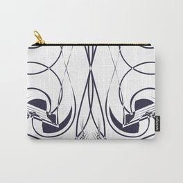 Navy & White Chic Line Art Carry-All Pouch