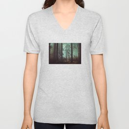 Shadows in the morning mist  Unisex V-Neck