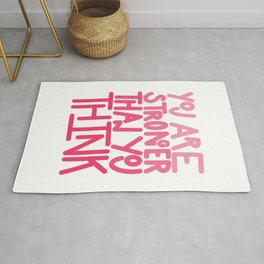 You Are Stronger Than You Think - Pink Rug