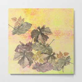 ...among the leaves,  the dew  of old devotions. ' Metal Print