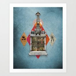 Squid Ascendant Upon the Cabinet of Thackery v.2 Art Print