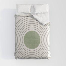 Fresh Pattern, Green Circle Comforters