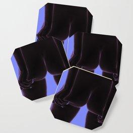 Intimita Nuda | The Nude Buttocks Squeeze | Purple Blue Coaster