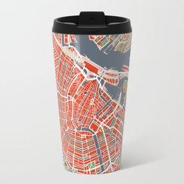 Amsterdam city map classic Travel Mug