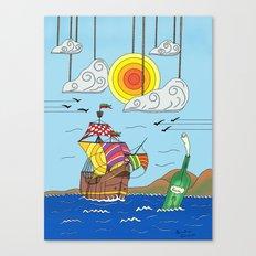 OLD BOY PIRATE Canvas Print