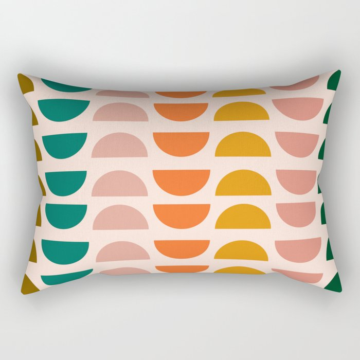 Retro 70s Geometrics Rectangular Pillow