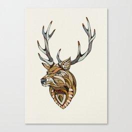 Deer // Animal Poker Canvas Print