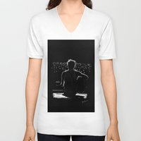 niall V-neck T-shirts featuring TMH Niall by Cyrilliart