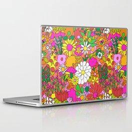 60's Groovy Garden in Neon Peach Coral Laptop & iPad Skin
