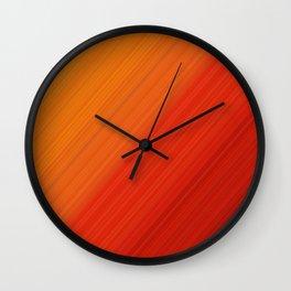 Linear Fire Wall Clock