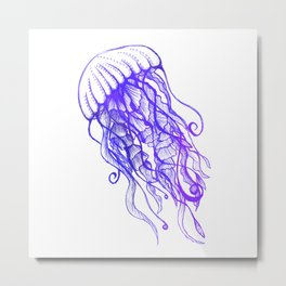 Rainbow Jellyfish Metal Print
