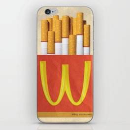 Unhappy Meal iPhone Skin