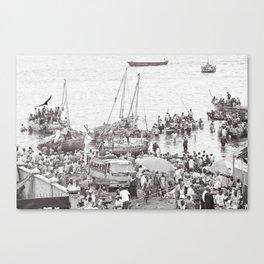 Busy Port in Stone Town, Zanzibar Canvas Print