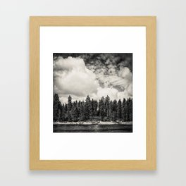 Far Away Clouds Passing By Framed Art Print
