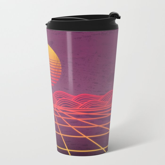 Neon Dream's  Metal Travel Mug