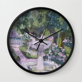 Spring garden, impressionist painting, Sorolla interpretation Wall Clock