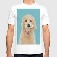 Labradoodle Ginger MEDIUM White Mens Fitted Tee