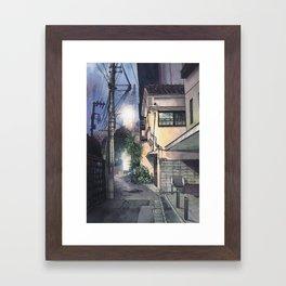 Tokyo at Night #09 Framed Art Print