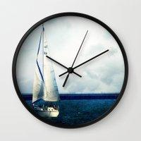 milwaukee Wall Clocks featuring Milwaukee Sailing by Dawn East Sider