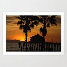 Huntington Beach Pier Art Print