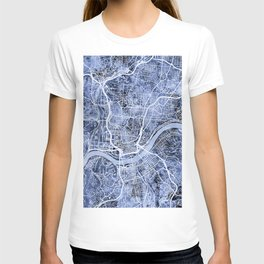 Cincinnati Ohio City Map T-shirt