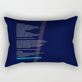 pale blue dot Rectangular Pillow