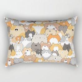 Cats, Kitties and a Spy Rectangular Pillow