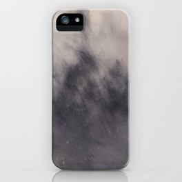 Abstract watercolor #37 - Dark dreams - Abstract watercolour painting iPhone Case