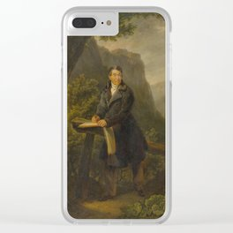 ATTRIBUTED TO FREUDWEILER, HEINRICH (1755 Zurich 1795) Portrait of a draughtsman in a mountain lands Clear iPhone Case