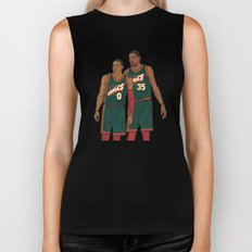 Westbrook and Durant - Retro Jersey Biker Tank