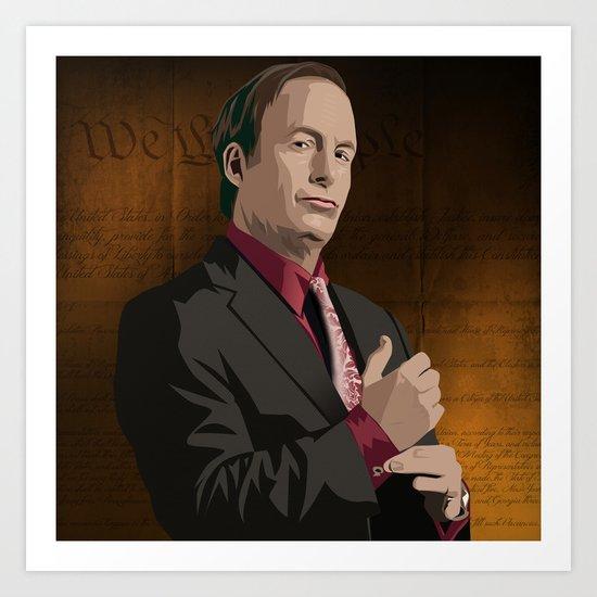 Breaking Bad Illustrated - Saul Goodman Art Print