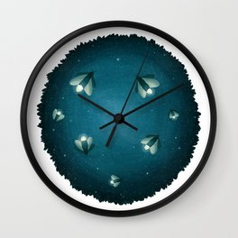 Dreamscape #4 (or Lightning Bugs in the Night Sky) Wall Clock