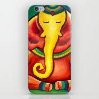 ganesha iPhone & iPod Skins featuring Ganesha by Amanda Rose Whittaker