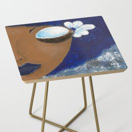 Sassy Girl Royal Blue and White Side Table