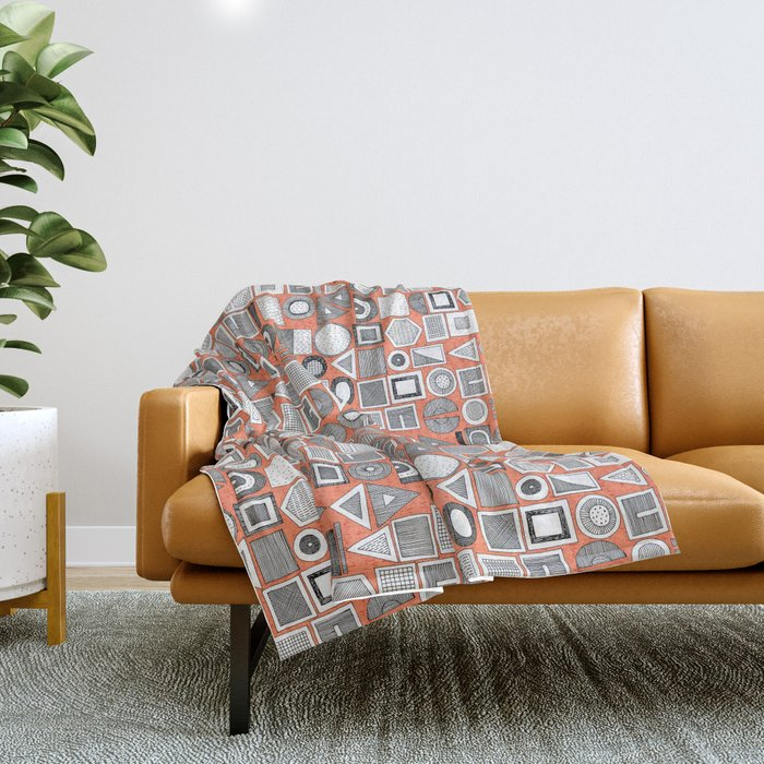 frisson memphis bw orange Throw Blanket