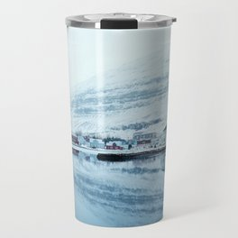 Houses by the water reflect Travel Mug