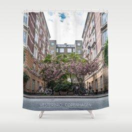 Vesterbro, Copenhagen Shower Curtain