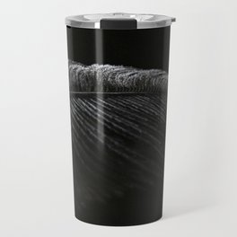 Black on Black Ostrich Feather Travel Mug