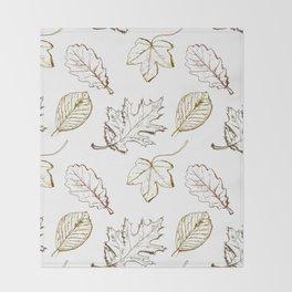 Leaves (browns) Throw Blanket