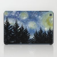 starry night iPad Cases featuring Starry Night by Astrablink7